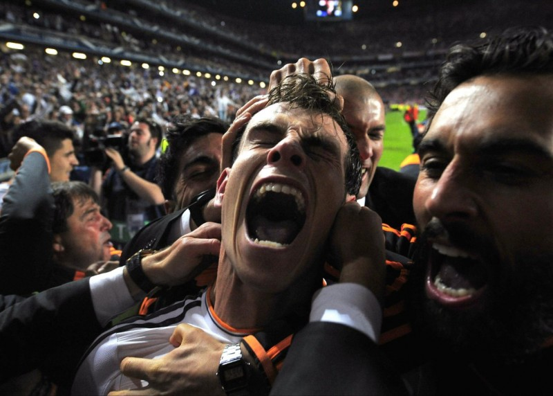 Gareth Bale extreme goal celebrations, in the Champions League Final