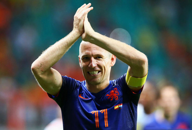 Arjen Robben, Netherlands MVP against Spain, in the World Cup 2014