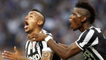 Arturo Vidal and Paul Pogba in Juventus in 2014