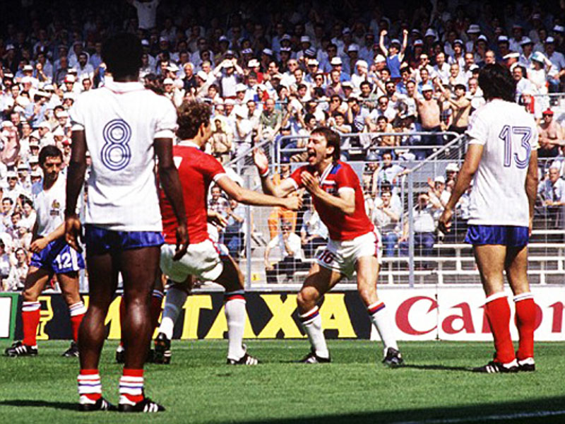 Bryan Robson fastest goal in England vs France, in the 1982 FIFA World Cup