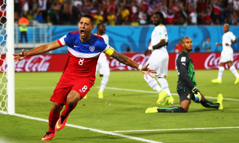 Clint Dempsey fastest goal in the 2014 FIFA World Cup, in USA vs Ghana