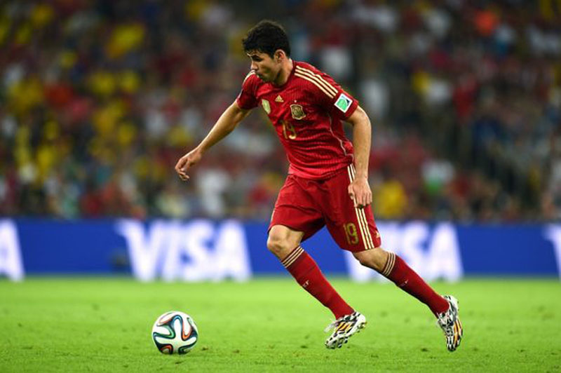 Diego Costa in Spain's FIFA World Cup 2014