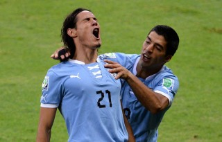 Edinson Cavani and Luis Suarez in Uruguay National Team