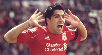 Luis Suárez Liverpool goal celebration