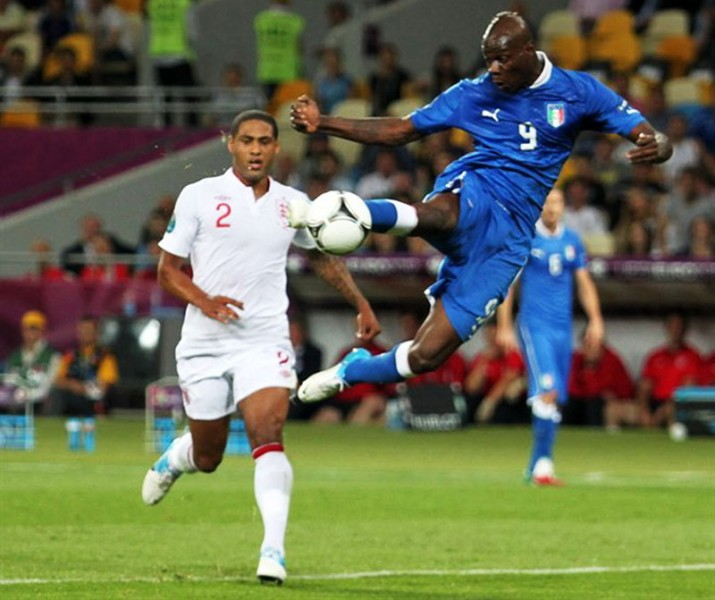 Mario Balotelli acrobatic shot in the FIFA World Cup 2014