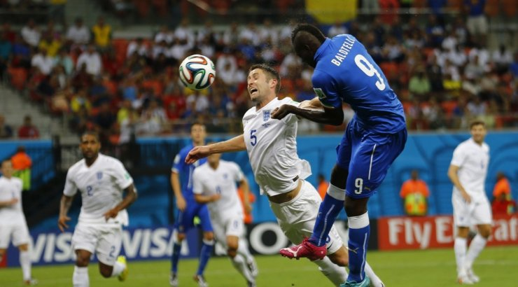 Mario Balotelli header goal in Italy vs England, at the 2014 FIFA World Cup