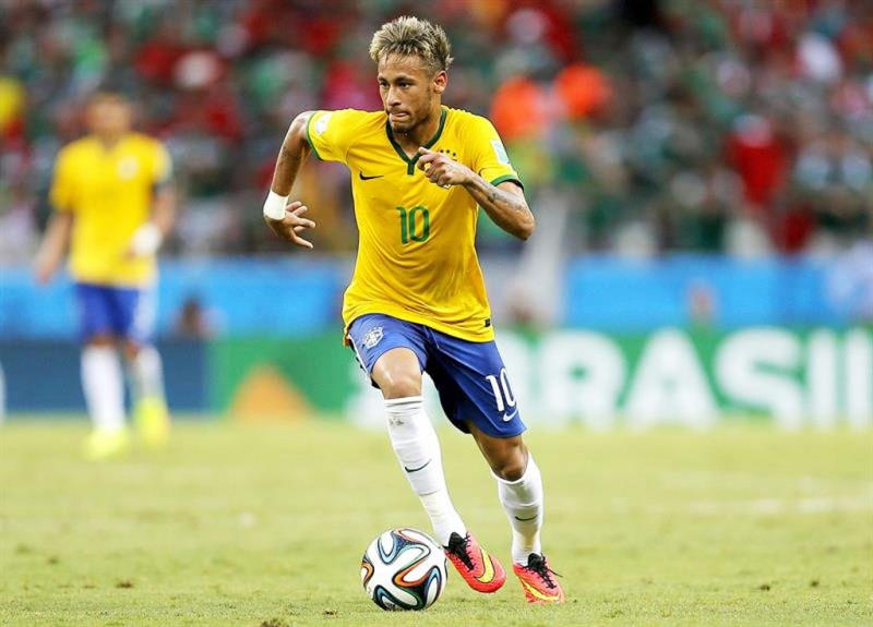 Neymar in the Brazilian National Team, at the FIFA World Cup 2014