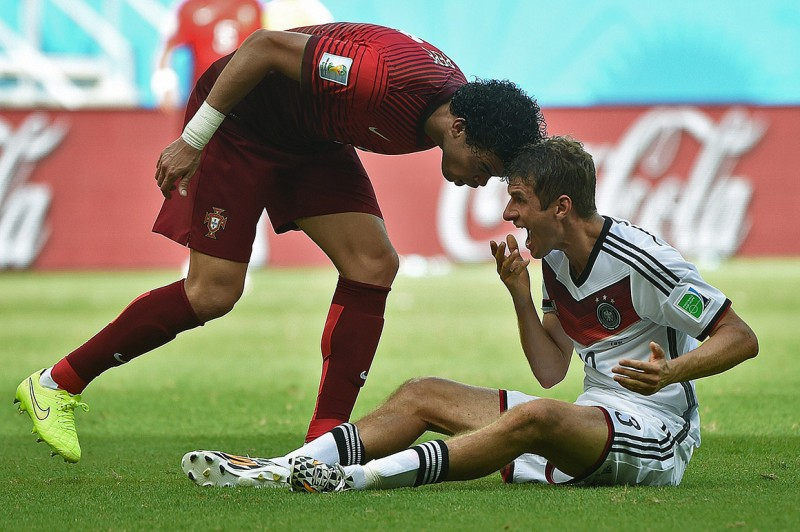 Pepe headbutt to Thomas Muller, in the FIFA World Cup 2014