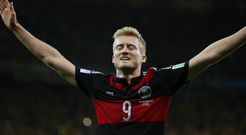 André Schurrle goal celebration in Germany 7-1 Brazil