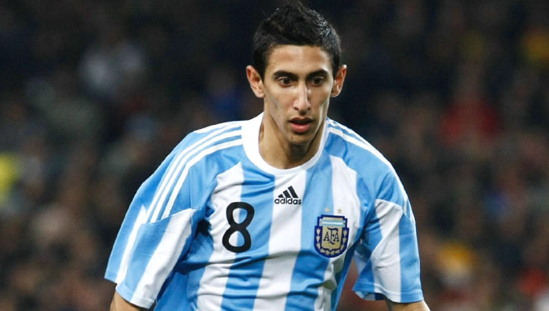 Angel Di María playing for Argentina