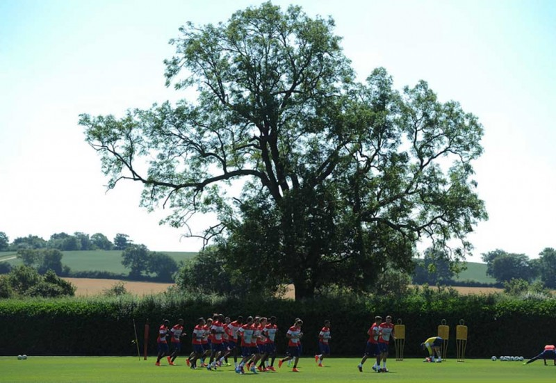 Arsenal pre-season outdoor training session