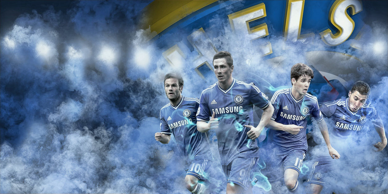 Chelsea FC Wallpaper With Mata Torres Oscar And Hazard