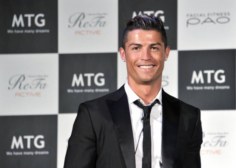Cristiano Ronaldo attending a publicity event in Tokyo, Japan