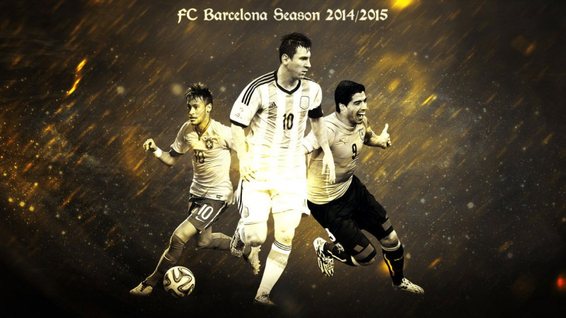 FC Barcelona wallpaper - Neymar, Messi and Luis Suárez