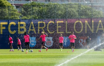 FC Barcelona pre-season 2014-2015 training session