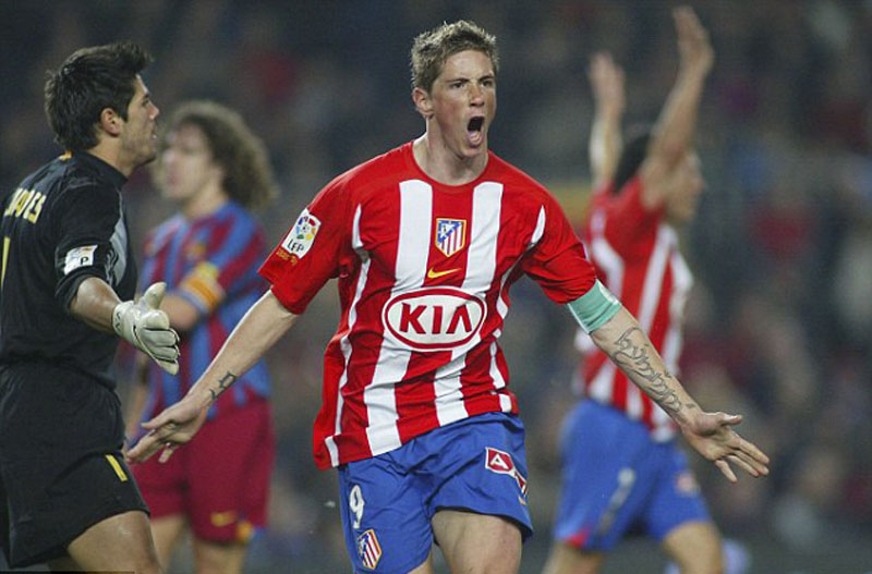 Fernando Torres goal in Atletico Madrid vs Barcelona