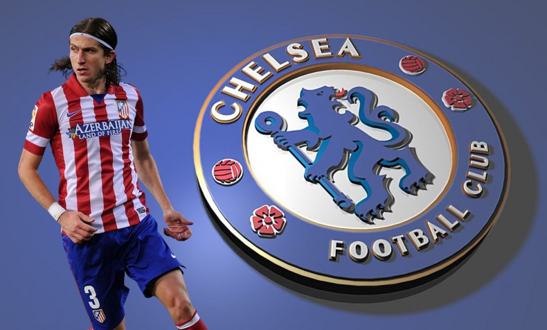 Filipe Luis Chelsea player in 2014-2015
