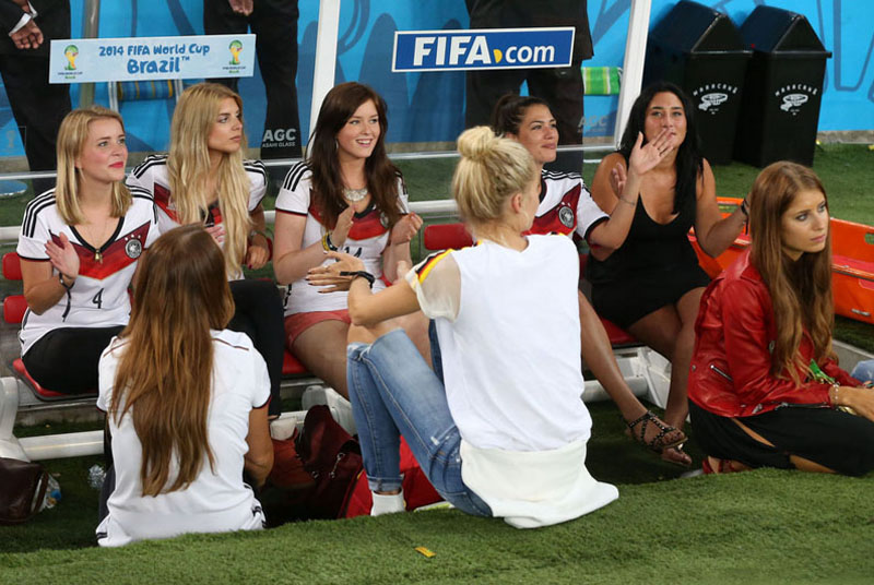 Germany players' wifes and WAGs, in the World Cup 2014