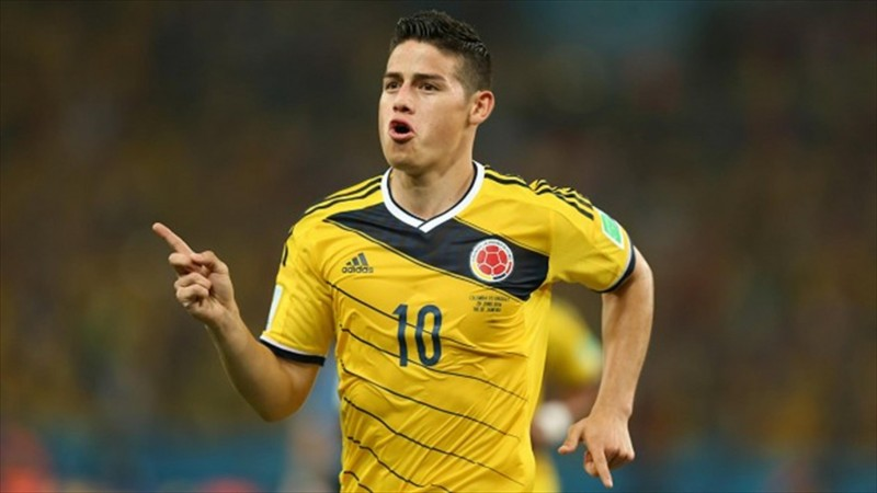James Rodríguez, in Colombia FIFA World Cup 2014