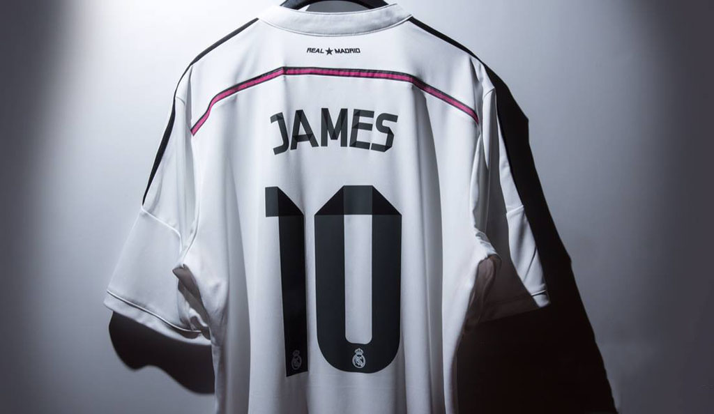 the latest 488ff c2c16 James Rodríguez is presented as Real Madrid's new number 10