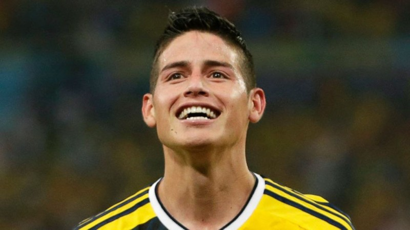 James Rodríguez smiling