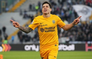 Juan Manuel Iturbe playing in Italy for Hellas Verona