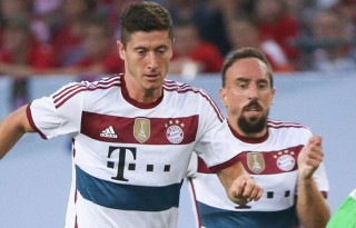 Lewandowski and Franck Ribery in Bayern Munich 2014-2015