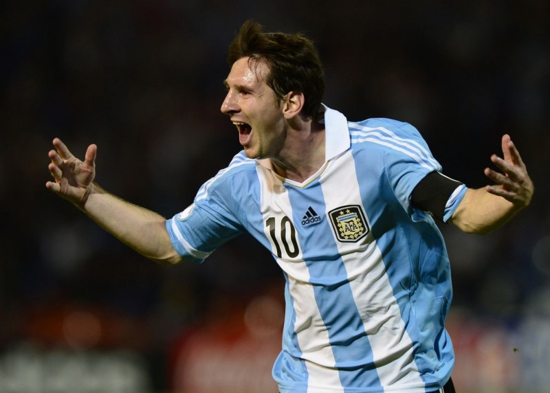 Lionel Messi with the Argentina National Team in the World Cup
