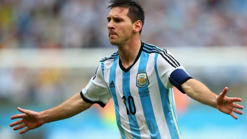 Lionel Messi in Argentina's World Cup 2014