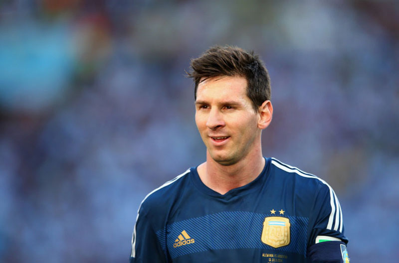 Lionel Messi in Argentina's FIFA World Cup 2014