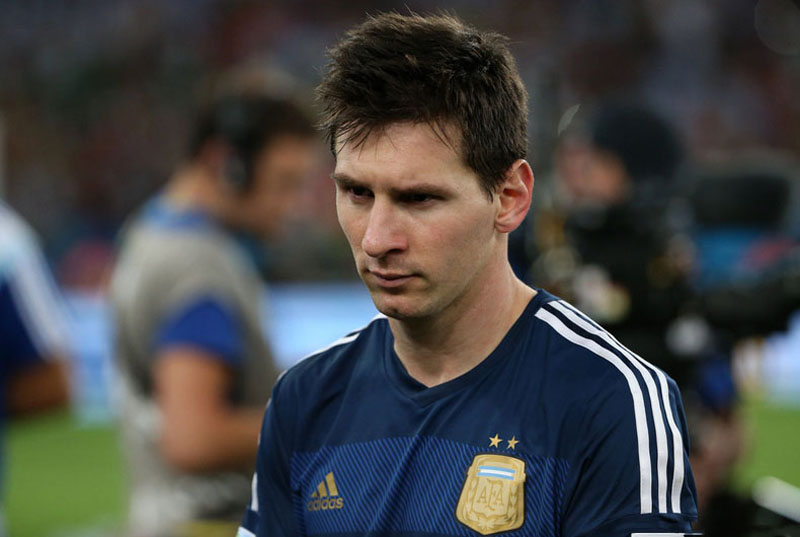 Lionel Messi's sad look after losing the FIFA World Cup final in 2014