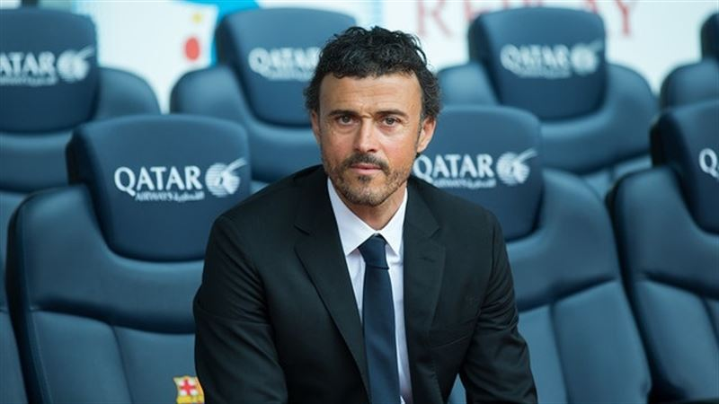 Luis Enrique, Barcelona head coach in 2014-2015