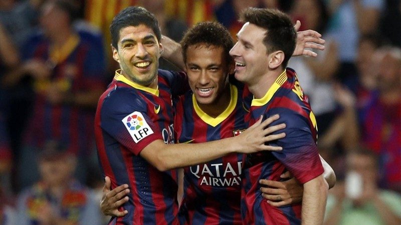 Luis Suarez, Messi and Neymar, in FC Barcelona 2014-2015