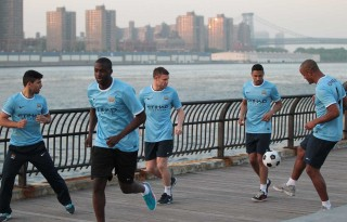 Manchester City players ready for pre-season 2014-2015