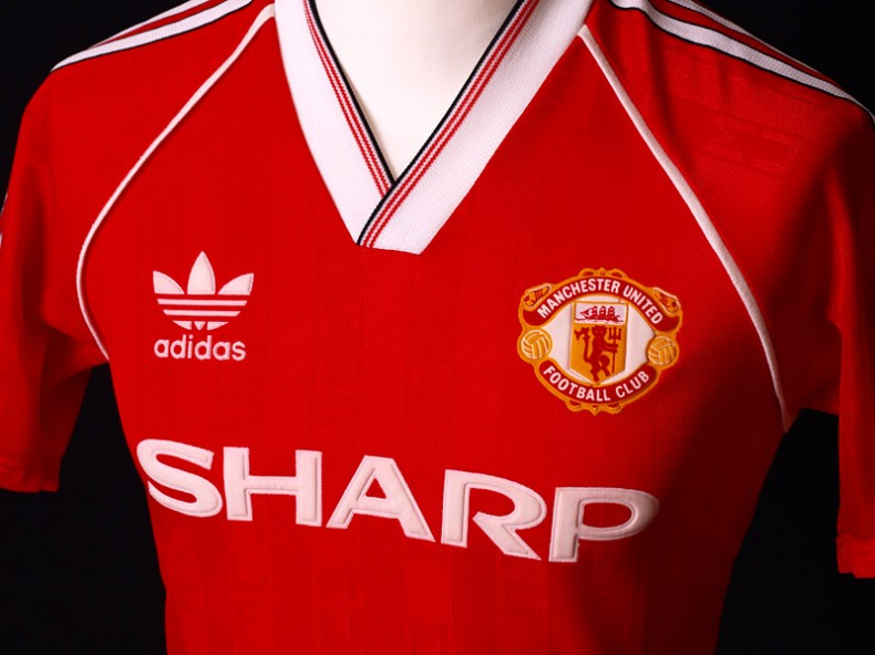 Manchester United Adidas jersey sponsored by Sharp