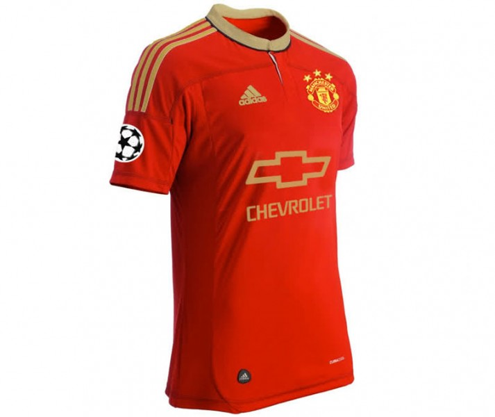 Manchester United Chevrolet Adidas jersey for 2015-2016