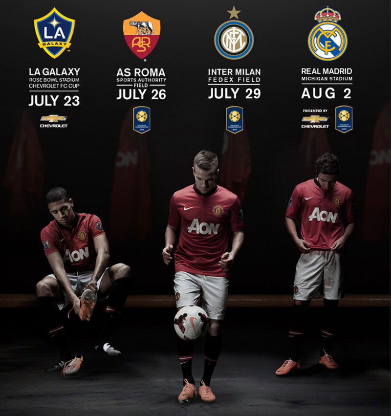 Manchester United friendlies schedule for 2014-2015