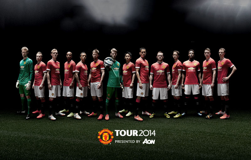 Manchester United squad for the pre-season 2014-2015