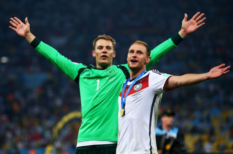 Manuel Neuer and Howedes, Germany World Champions
