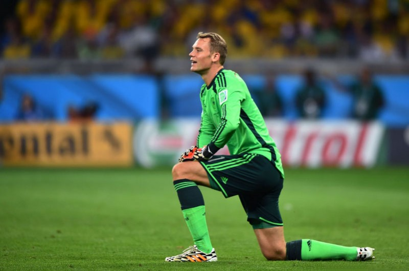Manuel Neuer, Germany goalkeeper in the FIFA World Cup 2014