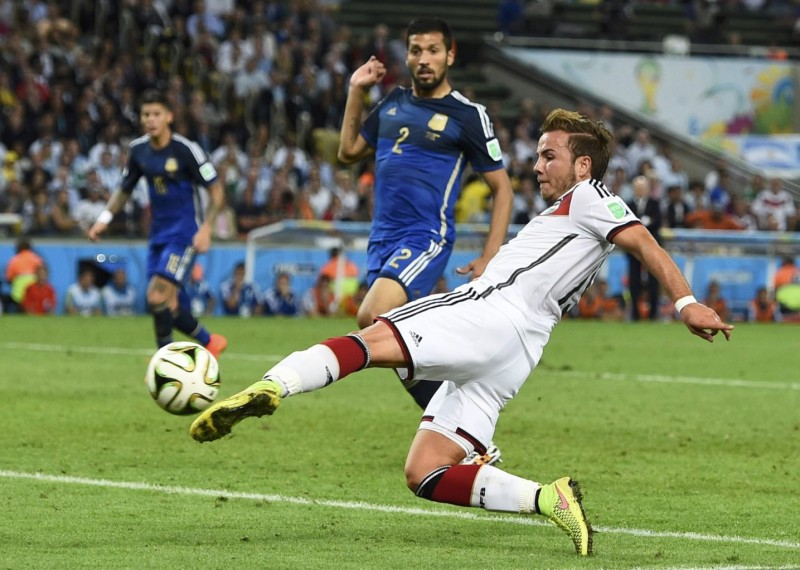 Mario Gotze winning goal in Germany 1-0 Argentina, in the FIFA World Cup final in 2014