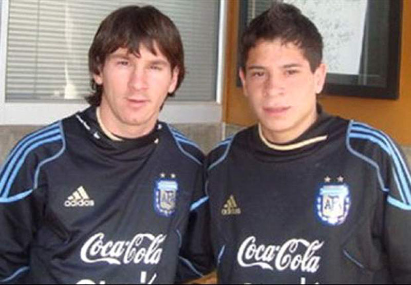 Messi and Iturbe photo in Argentina