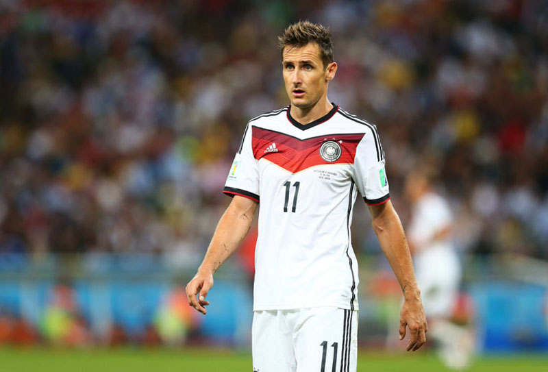 Miroslav Klose in Germany vs Argentina, in the FIFA World Cup final in 2014