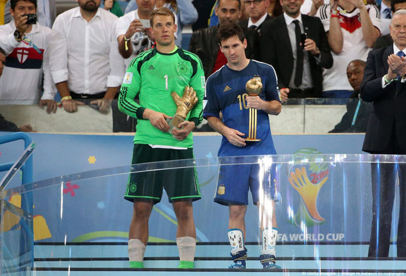 Neuer and Messi, FIFA World Cup best players