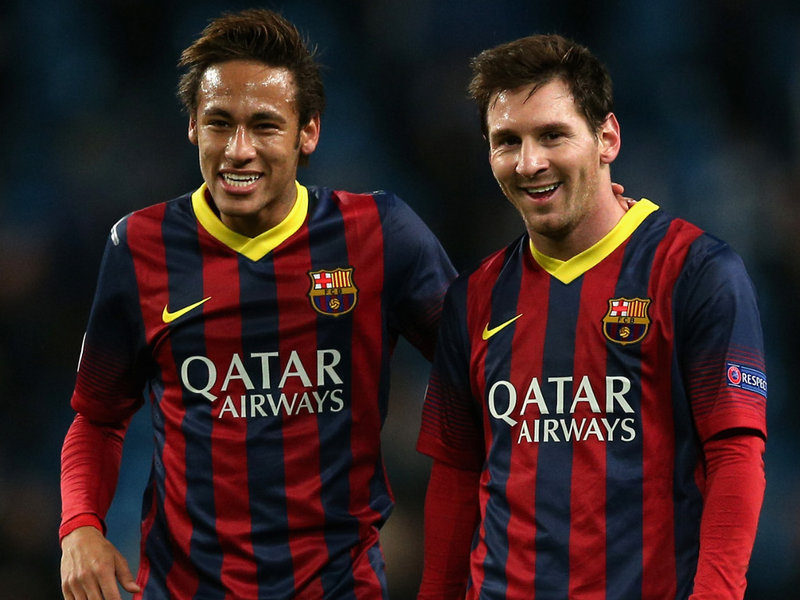 Neymar and Messi, best friends in Barcelona