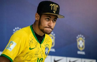 Neymar in the press-conference after his World Cup injury