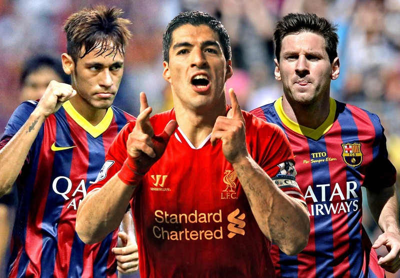 Neymar, Suarez and Messi, Barcelona attacking trio for 2014-2015