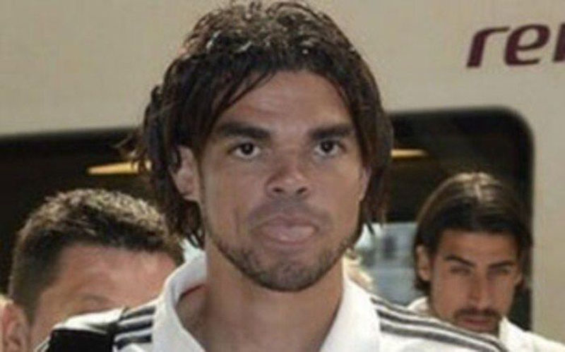 Pepe with a playmobile haircut style, in Real Madrid