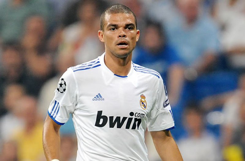 Pepe shaved head in Real Madrid
