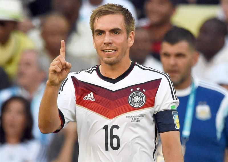 Philipp Lahm with Germany, in the 2014 FIFA World Cup